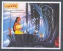 MylDA169 WALT DISNEY POCAHONTAS WASBEER EEKHOORN VOGEL KOLIBRI RACCOON SQUIRREL HARE BIRD HUMMINGBIRD GUYANA 1995 PF/MNH - Disney