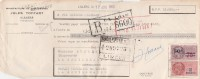 Lettre Change 17/7/1950 TOFFART Chaussures LILLERS Pas De Calais Pour La Souterraine Creuse - Bills Of Exchange