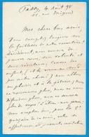 Autographe Et Propos Sur La Vieillesse Eugène MANUEL 1823-1901 Poète Professeur Et Homme Politique Français * Trouville - Autografi