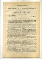 - MANIVELLE DE MISE EN MARCHE POUR MOTEURS A EXPLOSION . BREVET D´INVENTION DE 1902 . - Technical