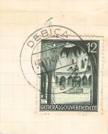 MiNr.43 Ortsstempel Debice Auf Briefstück  Deutsches Reich Generalgouvernement - Besetzungen 1938-45