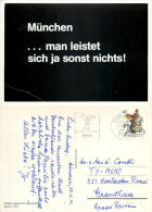 At Night Black Card, Munchen, Germany Postcard Posted 1991 Stamp - Muenchen