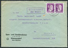 Landpost Stempel Brief 1944 Spar Und Darlehnskasse Gimmersdorf Uber Mehlem - Briefe U. Dokumente