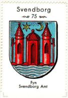 Werbemarke (Reklamemarke, Cinderella), Kaffe Hag Danmark : Svendborg Byvåben (Wappen, Arms, Blason) - Tea & Coffee Manufacturers