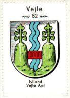 Werbemarke (Reklamemarke, Cinderella), Kaffe Hag Danmark : Vejle Byvåben (Wappen, Arms, Blason) - Tea & Coffee Manufacturers
