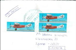 Argentina-Croatia Traveling Letter - Airplanes