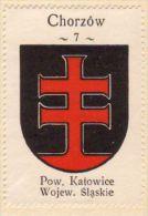 Werbemarke (Reklamemarke, Cinderella), Kawa Hag Polski : Chorzów (Herb, Wappen, Arms, Blason) - Tea & Coffee Manufacturers