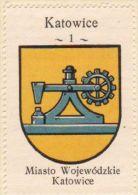 Werbemarke (Reklamemarke, Cinderella), Kawa Hag Polski : Katowice (Herb, Wappen, Arms, Blason) - Tea & Coffee Manufacturers