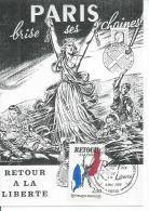 RETOUR A LA LIBERTE - PARIS BRISE SES CHAINES !   (  Déssin: BRANTONNE - 1er JOUR ) NUS - NUE - NU - Andere Zeichner