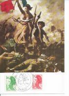LA LIBERTE  (  Déssin: Eugène DELACROIX - 1er JOUR ) NUS - NUE - NU - Andere Zeichner