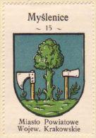 Werbemarke (Reklamemarke, Cinderella), Kawa Hag Polski : Myślenice (Herb, Wappen, Arms, Blason) - Tea & Coffee Manufacturers