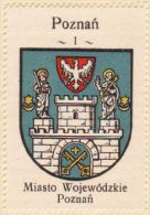Werbemarke (Reklamemarke, Cinderella), Kawa Hag Polski : Poznań (3)  (Herb, Wappen, Arms, Blason) - Tea & Coffee Manufacturers