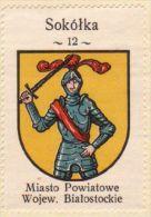 Werbemarke (Reklamemarke, Cinderella), Kawa Hag Polski : Sokółka (Herb, Wappen, Arms, Blason) - Tea & Coffee Manufacturers