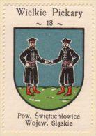 Werbemarke (Reklamemarke, Cinderella), Kawa Hag Polski : Wielkie Piekary (Herb, Wappen, Arms, Blason) - Tea & Coffee Manufacturers