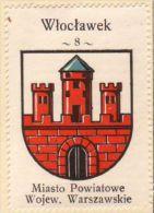 Werbemarke (Reklamemarke, Cinderella), Kawa Hag Polski : Włocławek (Herb, Wappen, Arms, Blason) - Tea & Coffee Manufacturers