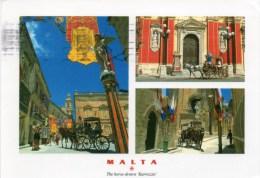 "- MALTA. - The Horse-drawn ""Karrozzin"" - Photography: Jonathan M. Beacom  - Scan Verso - - Malta"