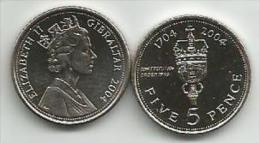 Gibraltar 5 Pence 2004. UNC - Gibraltar