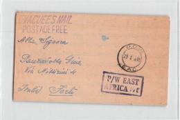 14017 ITALIAN POW PRISONER OF WAR  N.1-B ITALIAN EVACUEE CAMP NYERI STATION KENYA COLONY  TO FORLI - P W EAST AFRICA - Kenya, Uganda & Tanganyika