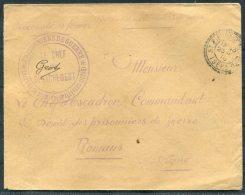 1916 France St Pierre D'Allevard Isere Prisonniers De Guerre Cover - L'Depot Romans Drome POW Camp - France