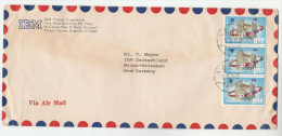 1970 Air Mail IBM TAIWAN Co COVER 3 X 8.00 Expo WORLD FLAGS Stamps To IBM Germany Flag Computer Computing - Computers