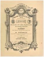 LIVRE SCOLAIRE : CLERGET : L'ECRITURE DES ECOLES ET DES FAMILLES 3ème CAHIER - LETTRES RONDES - Livres, BD, Revues