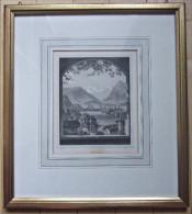 Altes Bild Zeichnug Stich Druck Um 1860 Thun Rohbock Kunst Johann Poppel - Non Classificati