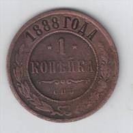 Russia 1 Kop. 1888 SPB VF - Rusia