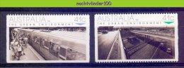 Mub163 TRANSPORT TREINEN AUTO CARS VIADUCT TRAINS STATION ZUG EISENBAHN AUSTRALIA 1989 PF/MNH - Transportmiddelen