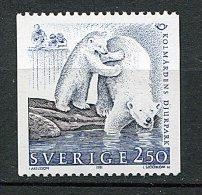 (cl 6 - P.31)  Suède ** N° 1649 (ref. Michel Au Dos) - Ours  Polaire   - - Suède