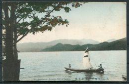 Japan Nikko Utagahama Chuzenji Boat On Lake Postcard - Japan