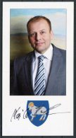 Faroe Islands Prime Minister Kaj Leo Holm Johannesen Signed Photograph - Autographs