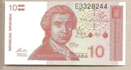 Croazia - Banconota Non Circolata Da 10 Dinari P-18a - 1991 - Croazia