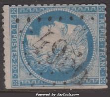 GC 4956 (Nissan, Hérault (33)), Cote 20€ - Marcophily (detached Stamps)