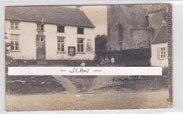 OISQUERCQ-CARTE-PHOTO-1914-GRAND PLACE+L'EGLISE+MAISON DU MARECHAL FERRANT-PIECE UNIQUE+HISTORIQUE-JAMAIS VUE-3 SCANS !