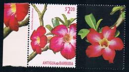 Antigua And Barbuda 2015 Votes Attached Flowers 1+ 1 New - Antigua Und Barbuda (1981-...)