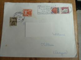 Lettre DIJON Du 27.12.1963 - Foire Gastronomique - Timbres Taxes 0.10 Et 0.20 Marianne DECARIS - AMIENS - Annullamenti Meccanici (pubblicitari)