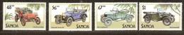 Samoa 1985  Yvertn° 576-79 *** MNH Cote 9,00 Euro  Transport Cars Voitures Autos Anciennes - Samoa