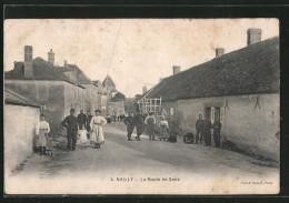 CPA Nailly, La Route De Sens, Enfants Dans La Rue - Sens