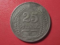 Allemagne - 25 Pfennig 1910 E 0524 - [ 2] 1871-1918 : Imperio Alemán