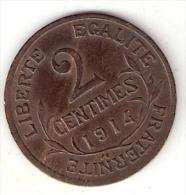 *france 2 Centimes 1914  Km 841  Xf+ !!! - France