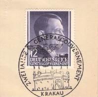 MiNr.75 SST Krakau Auf Briefstück  Deutsches Reich Generalgouvernement - Besetzungen 1938-45