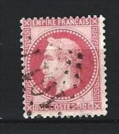 "YT 32 "" Napoléon III Lauré 80c. Rose "" 1867 GC 1017 CHINON - 1863-1870 Napoleon III With Laurels"