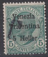 Italy Trento, Trentino, Venezia Tridentina 1919 Mi#27 Mint Hinged, T Overprint - Trente