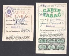 Lot De 2 Cartes De TABAC ( Pour Femmes ) - Orléans Loiret - Documents