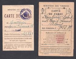 Lot De 2 Cartes De TABAC  - Orléans Loiret - Documents