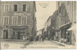 BRIOUDE - La Place De La Fènerie Et La Rue Sébastopol - Brioude