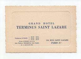 534 I) D 75 - GRAND  HOTEL  TERMINUS ST LAZARE - PARIS 8e - Reclame