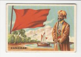 ZANZIBAR    Flag & Sketch -  Italian Old Picture-Card 1950´s Circa - Non Classificati