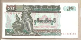 Myanmar - Banconota Non Circolata Da 20 Kyat - 1994 - Myanmar