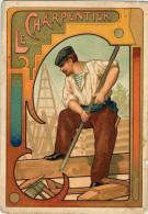 Le Charpentier  - Belle Illustration Style Art Déco - Craft